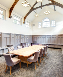 The Reyrolle Boardroom at the Clervaux Exchange. For hire to both internal and external clients.