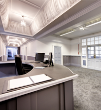 Reception of the business centre at The Clervaux Exchange